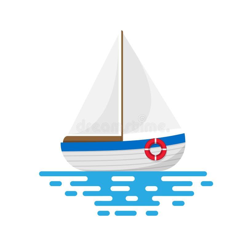 在空白背景查出的帆船 也corel凹道例证向量 向量例证