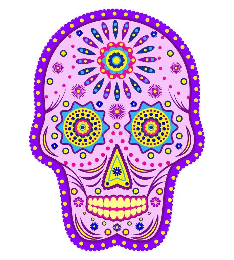 在空白背景查出的抽象头骨 向量例证