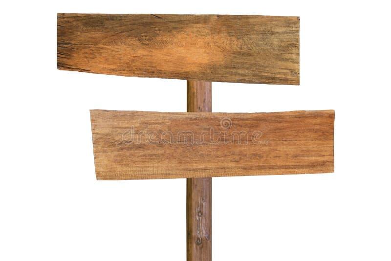 在空白背景查出的木牌 免版税库存图片