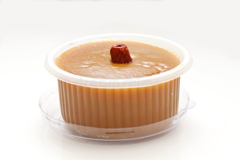 在空白背景的中国新年度米糕 免版税库存图片