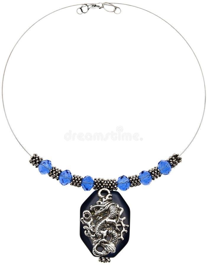 在空白背景的典雅的石珠宝 库存图片