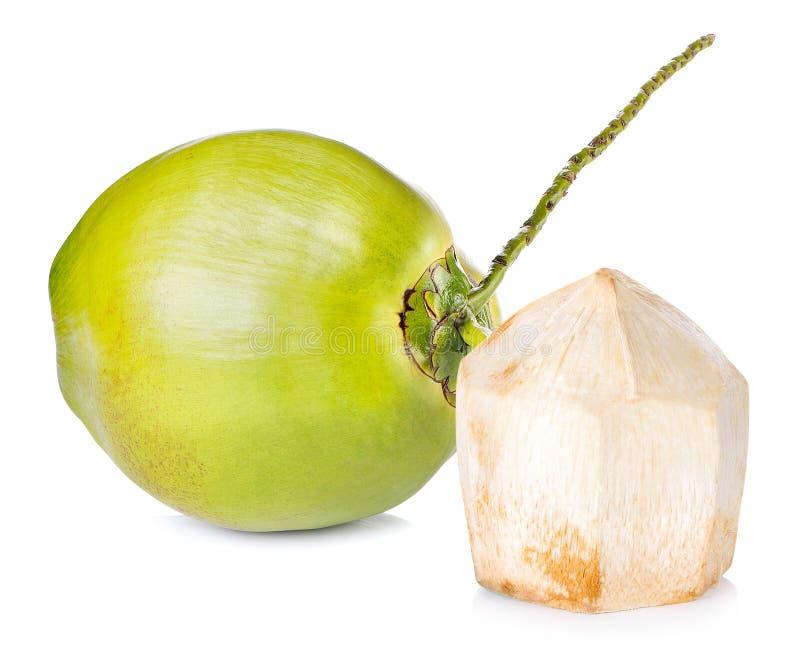 在空白背景的椰子 免版税图库摄影