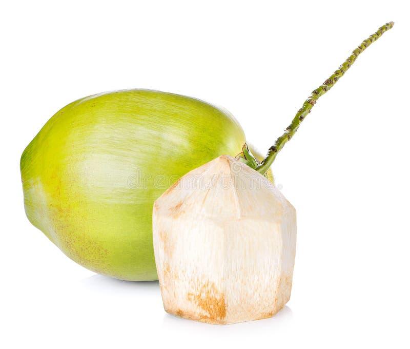 在空白背景的椰子 免版税库存照片