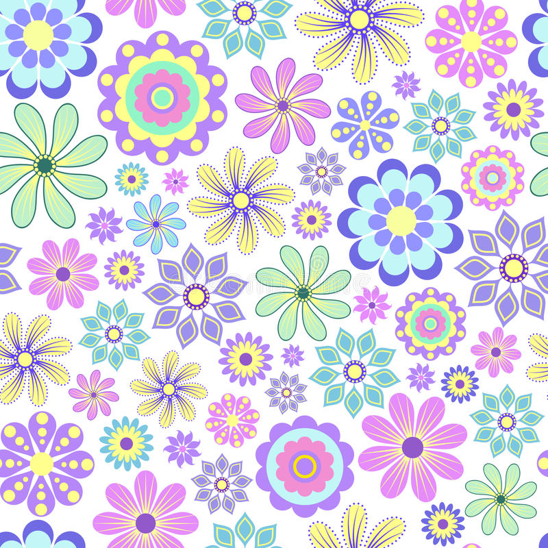 在空白背景的淡色花。 向量例证