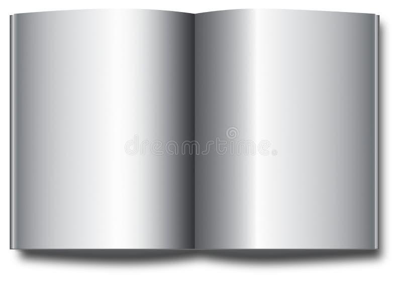 在空白背景的空白书页 皇族释放例证