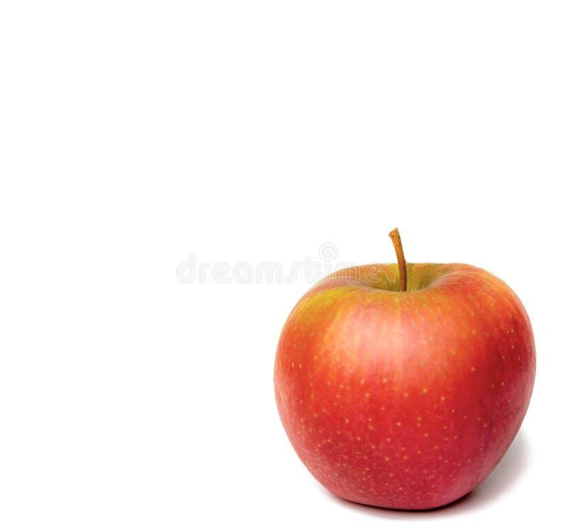 在空白背景的红色成熟苹果 免版税库存照片