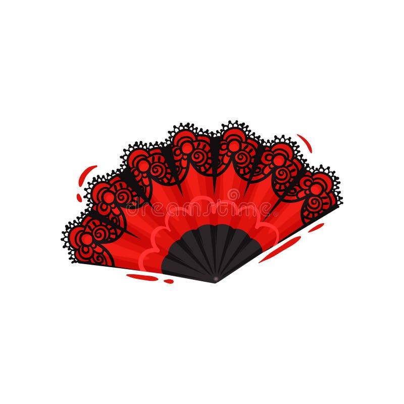 在空白背景的红色风扇 节日概念 库存例证