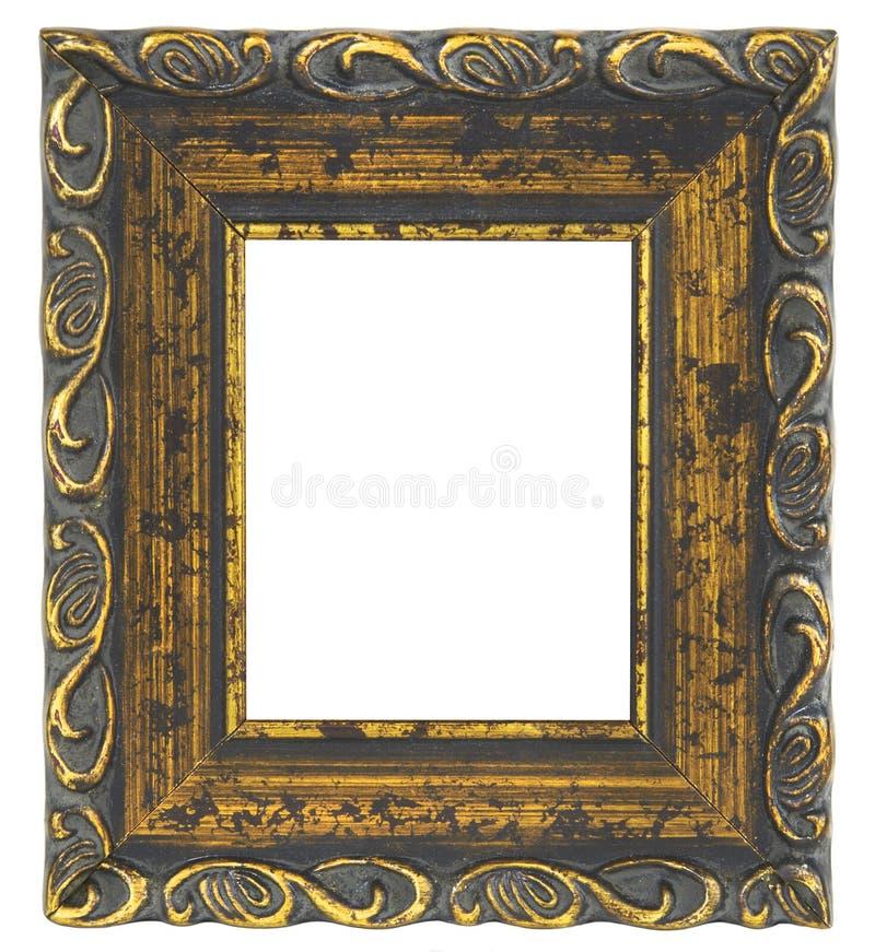 在空白背景的老画框 免版税图库摄影