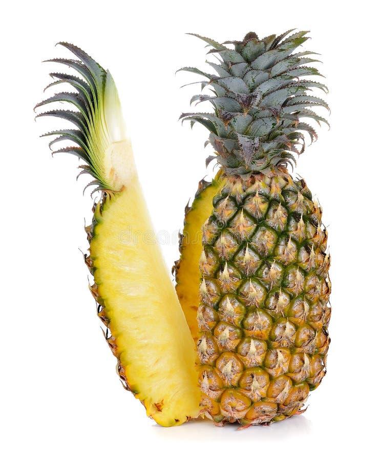 在空白背景的菠萝 库存图片