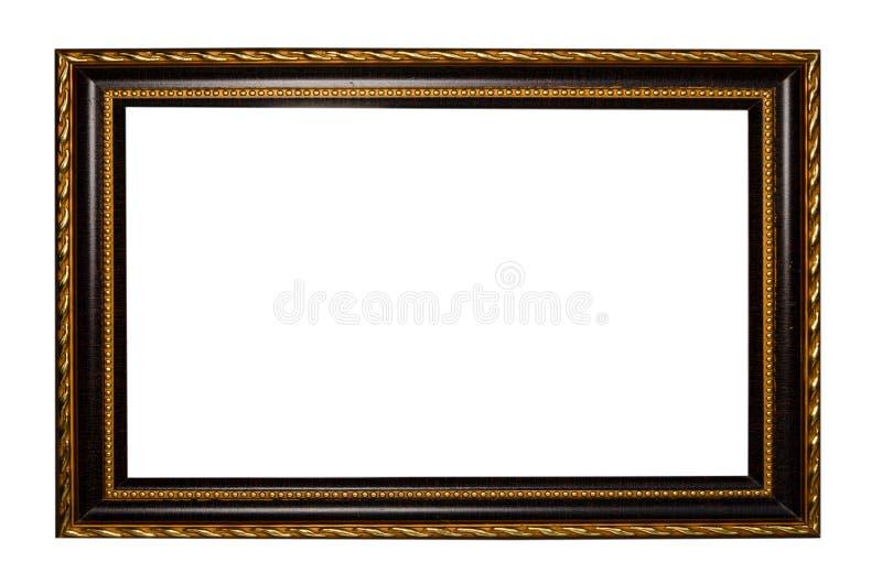 在空白背景的画的木框或照片 库存图片