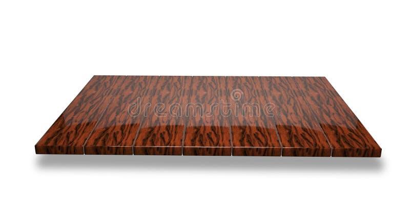 在空的优美的黑暗的木桌或柜台上的顶视图 皇族释放例证