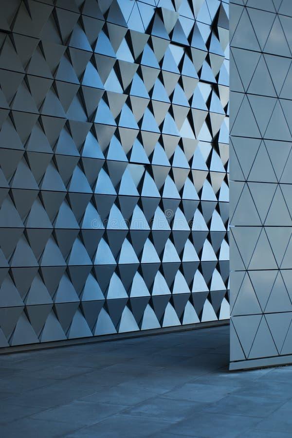 在空的大厅的建筑墙壁设计 库存照片
