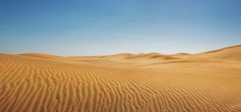 在空的沙漠的沙丘 库存照片