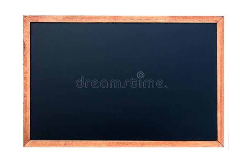 在空的粉笔板背景/空白的白色白垩 免版税库存图片