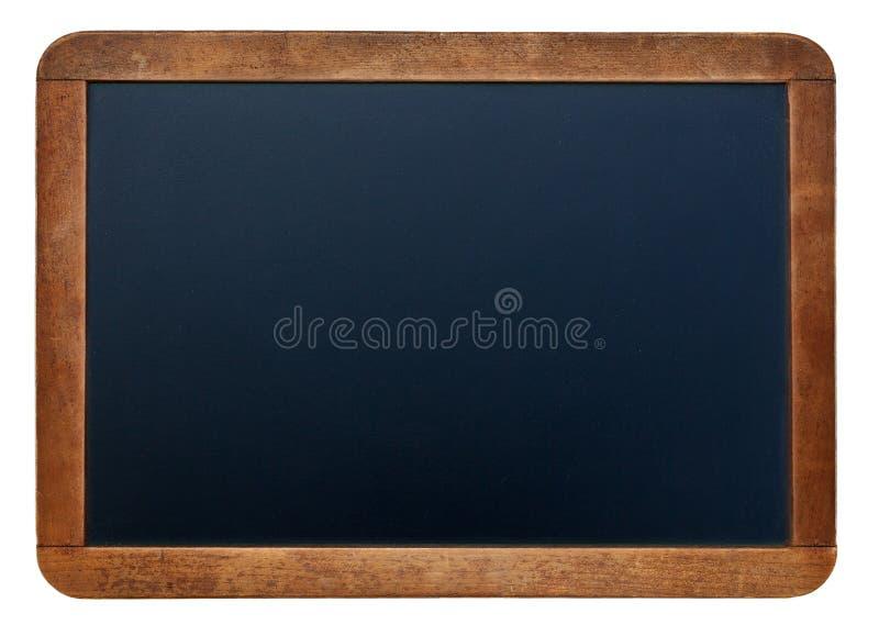 在空的粉笔板背景/空白的白色白垩 免版税库存照片
