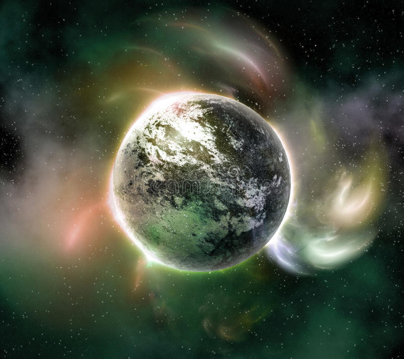 在空间的行星 皇族释放例证