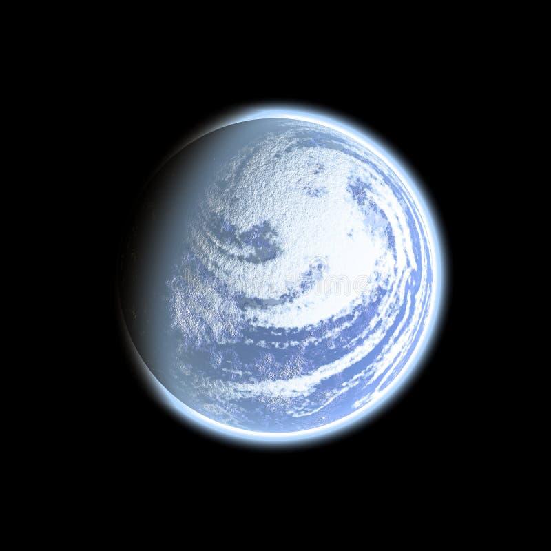 在空间,例证的地球 库存图片
