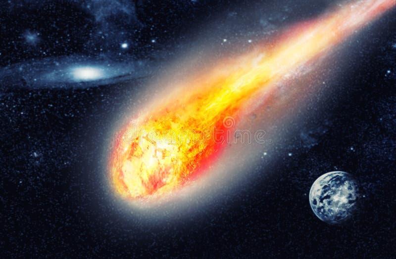 在空间的小行星 皇族释放例证