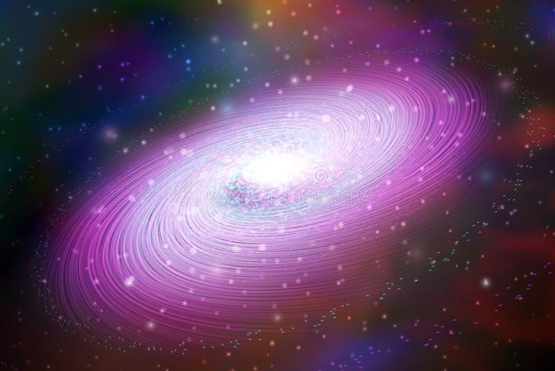 在空间的星系 宇宙传染媒介例证 库存例证