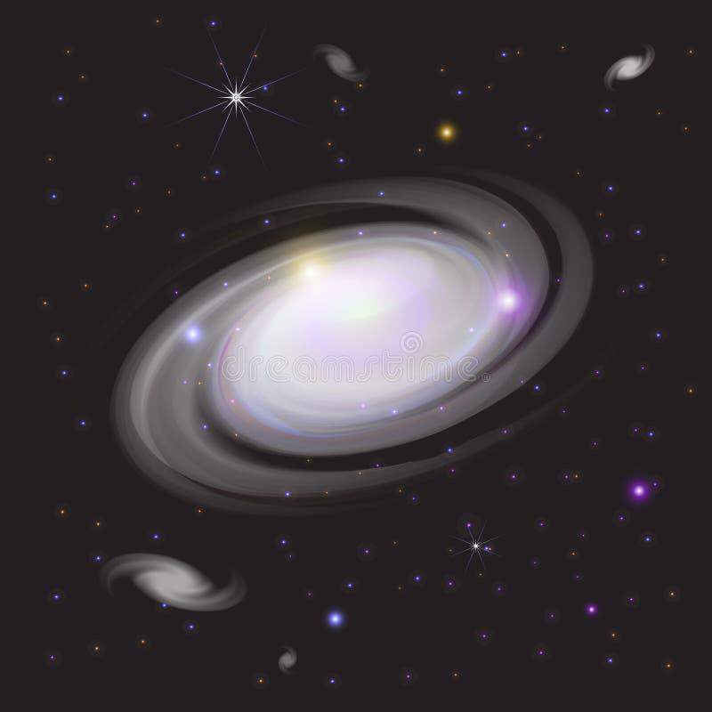 在空间的星系 库存照片