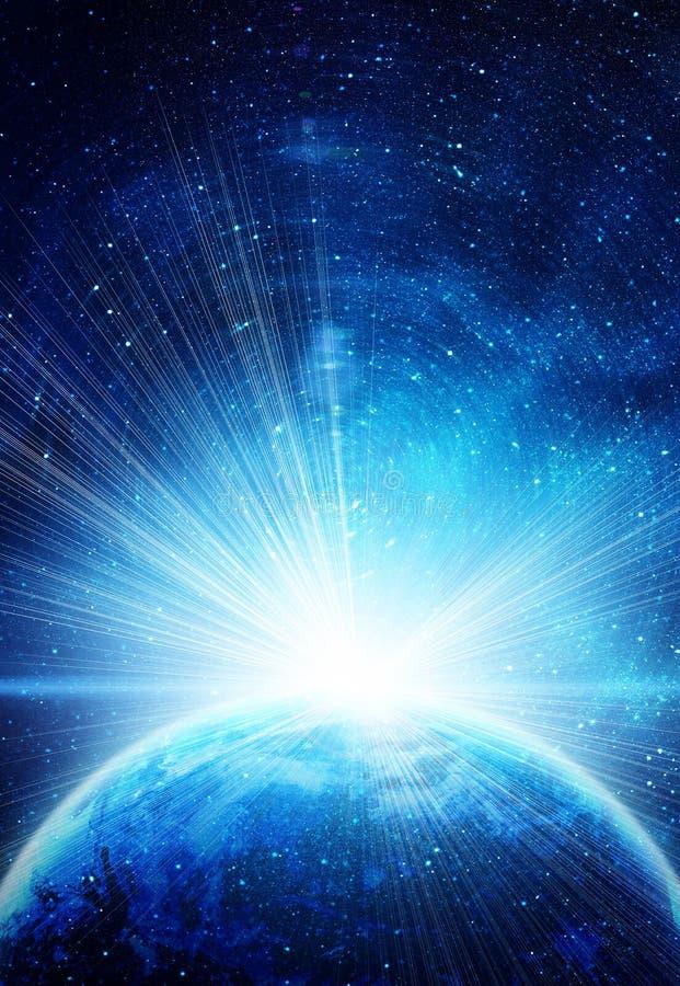 在空间的蓝色地球 库存图片