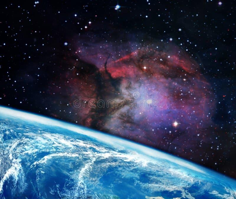 在空间的行星地球 免版税库存图片