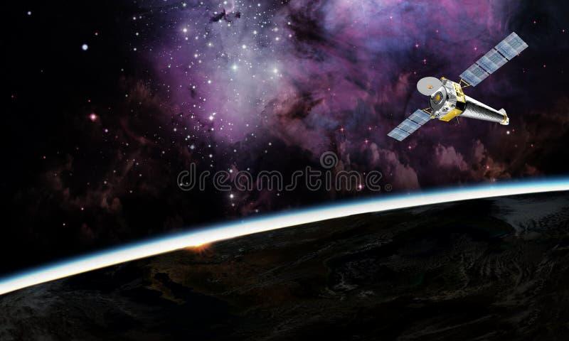 在空间背景的行星地球 图库摄影
