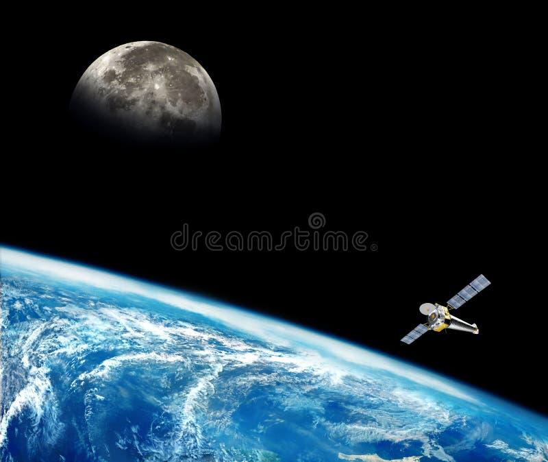 在空间背景的行星地球 皇族释放例证