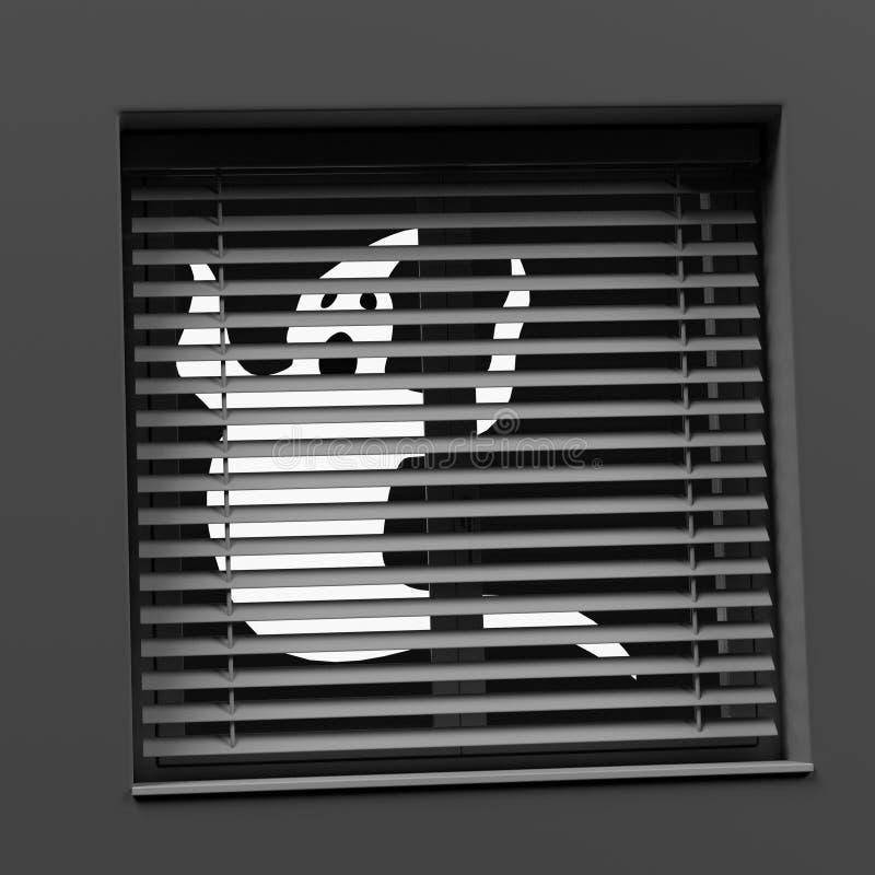 在窗口后的鬼魂 向量例证