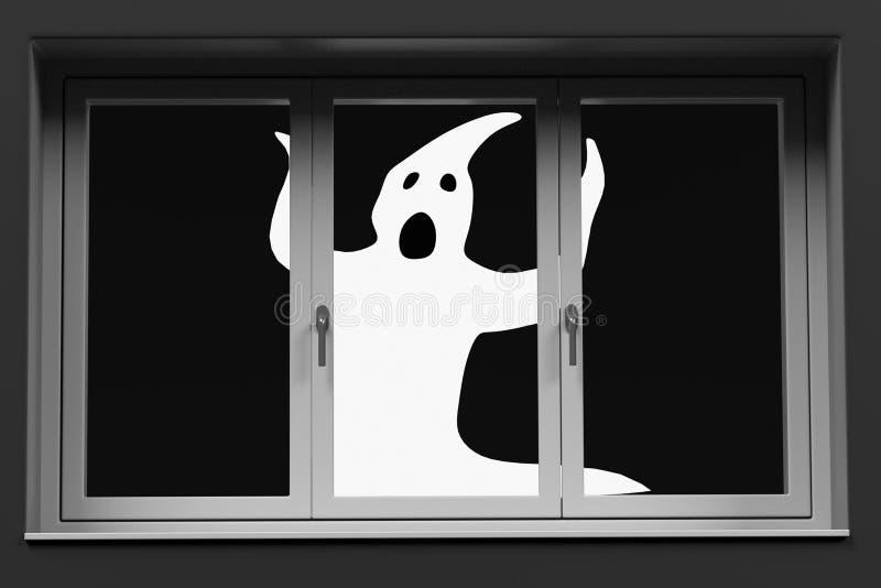 在窗口后的鬼魂 皇族释放例证