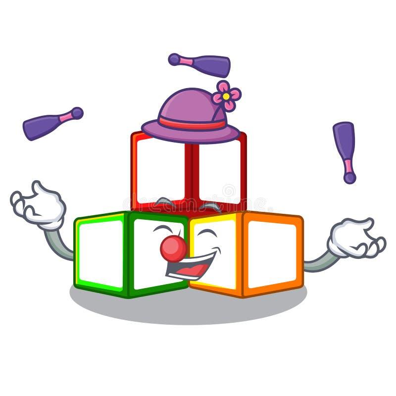 在立方体箱子吉祥人的玩杂耍的玩具块 向量例证
