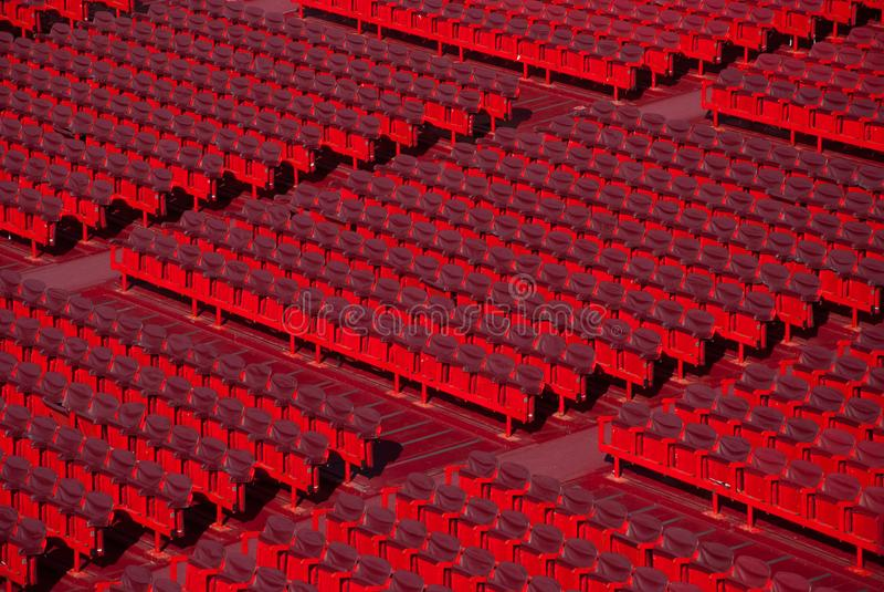 在竞技场二维罗纳的位子 免版税库存照片