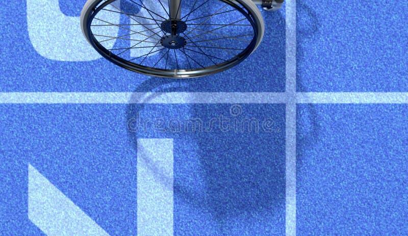 在竞技轨道的体育轮椅 皇族释放例证