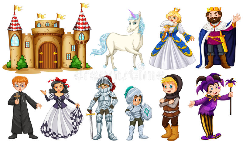 在童话的不同的字符 库存例证