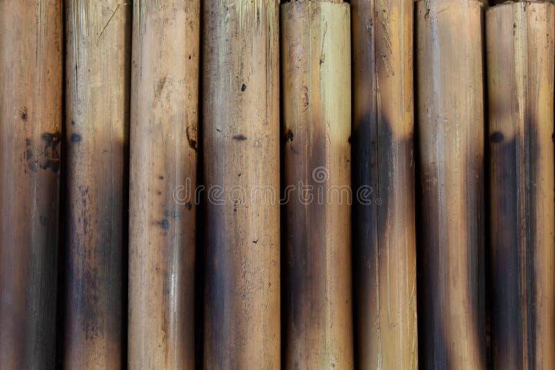 在竹子的烤黏米饭 免版税库存照片