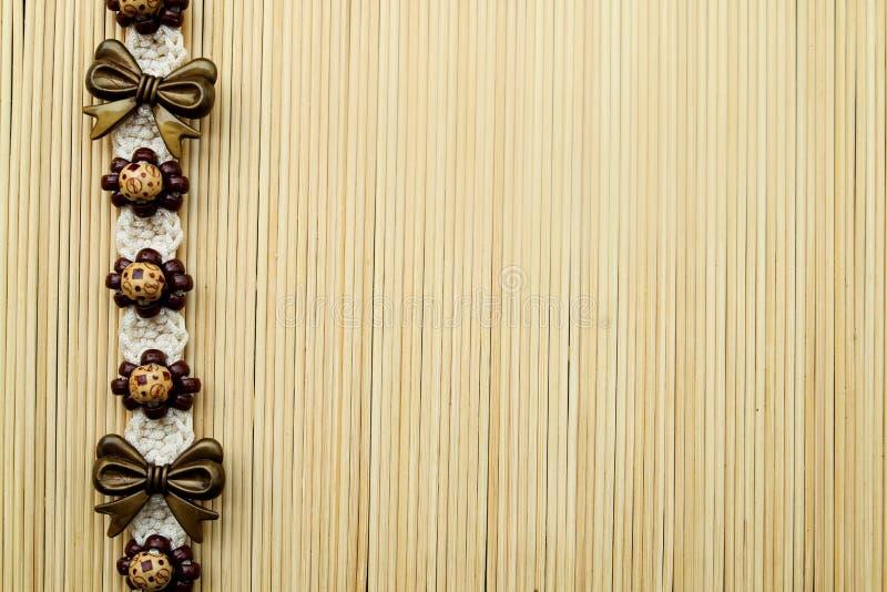 在竹暗淡的时尚传送带 免版税库存照片