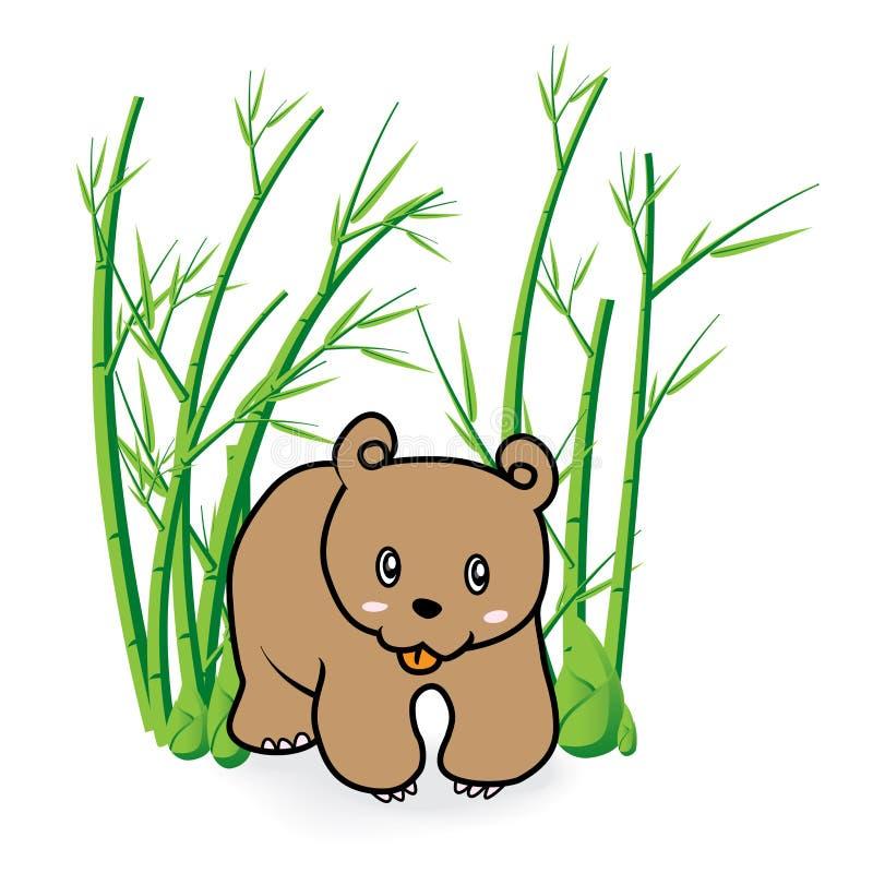 在竹Forrest 04的逗人喜爱的熊 库存图片