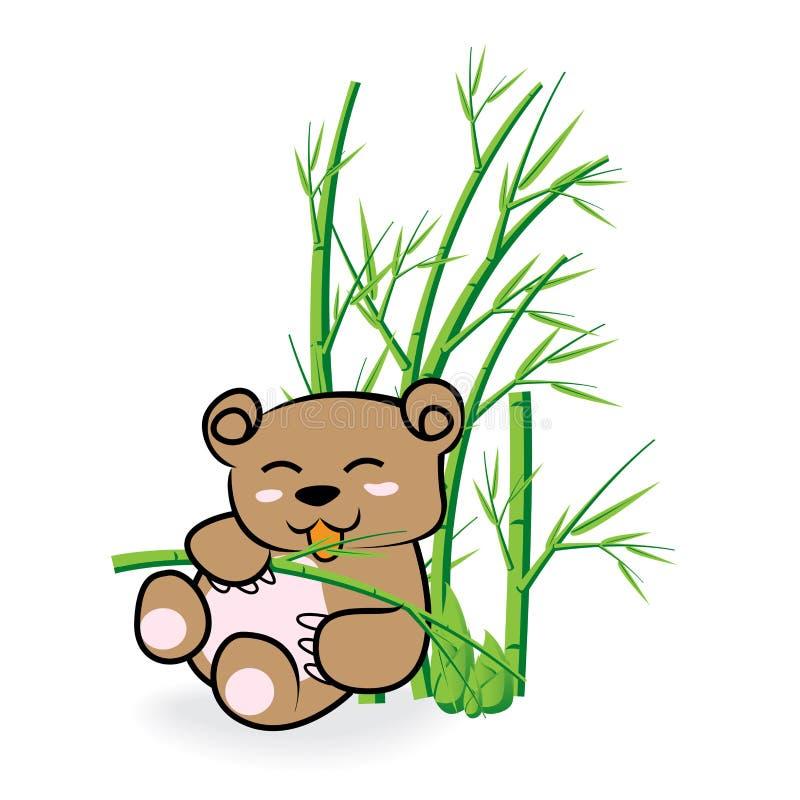 在竹Forrest 02的逗人喜爱的熊 图库摄影