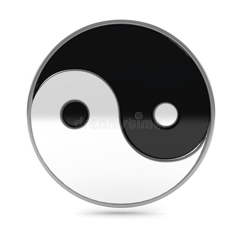 在符号空白杨yin的背景 库存例证