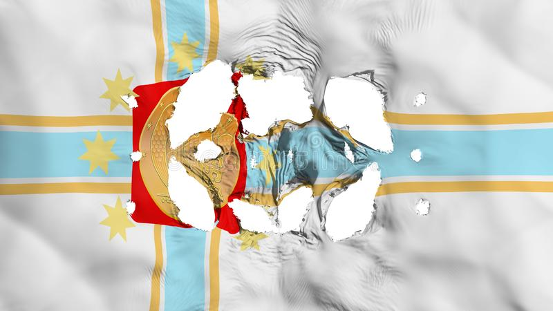 在第比利斯市旗子的孔 向量例证