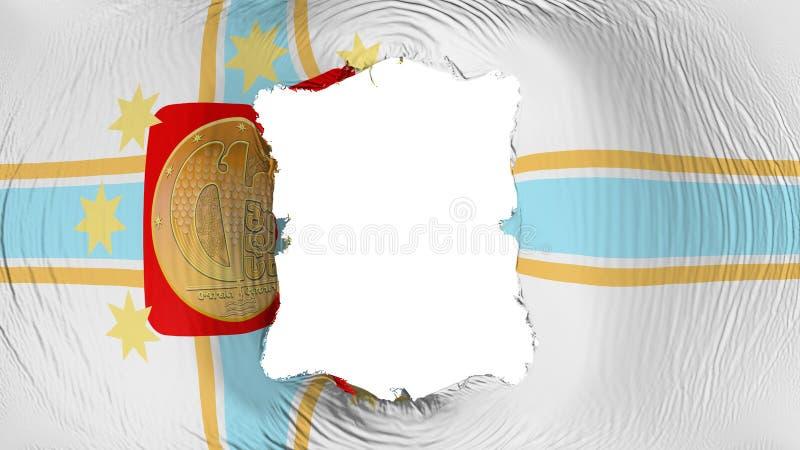 在第比利斯市旗子的方孔 皇族释放例证