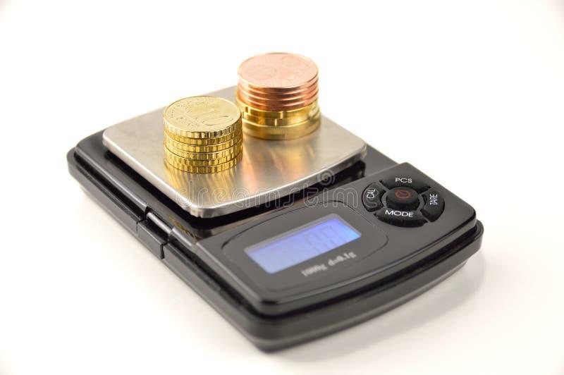 在等级的硬币 免版税库存照片