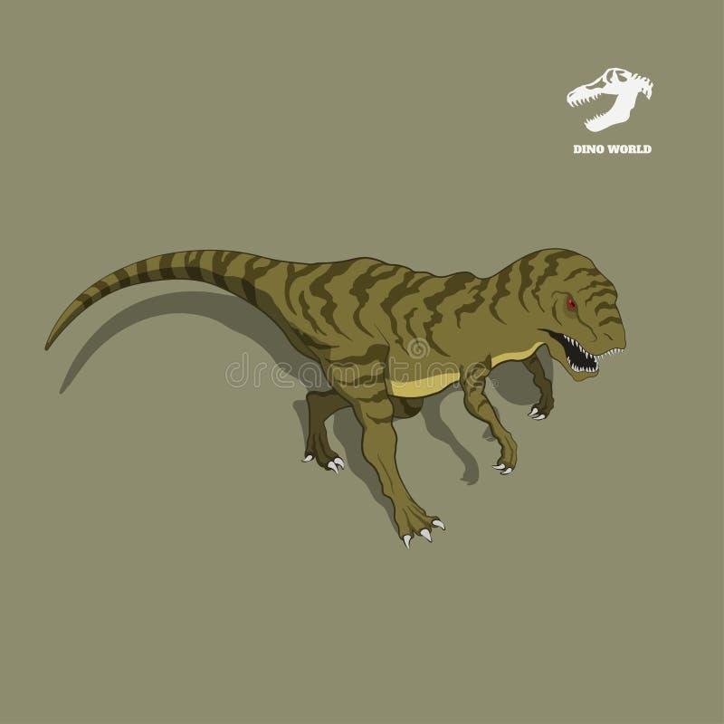 在等量样式的恐龙恐龙 侏罗纪妖怪的被隔绝的图象 动画片迪诺3d象 皇族释放例证