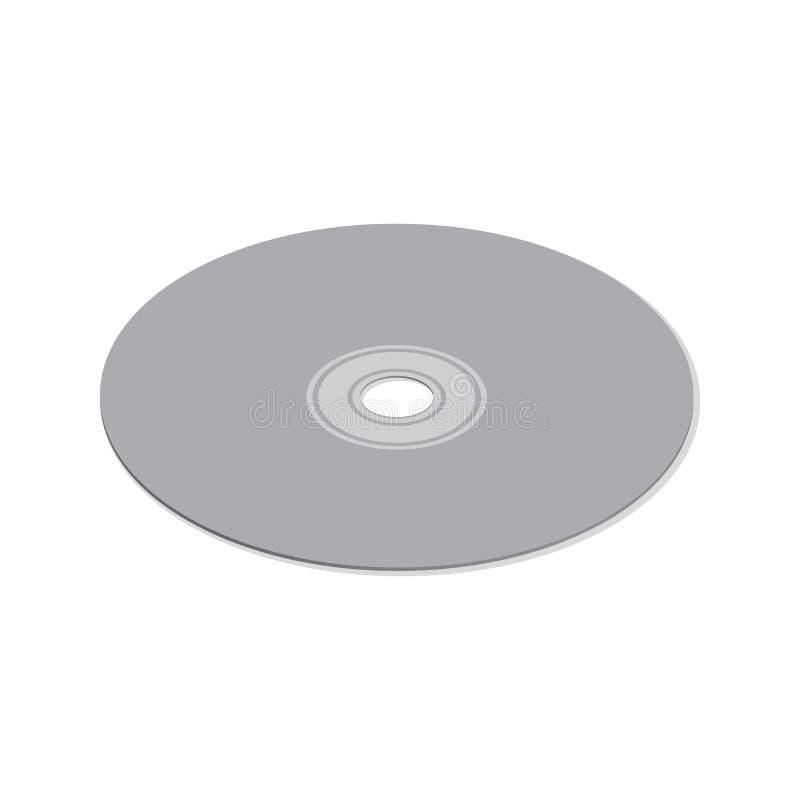 在等量的3d的光盘,传染媒介例证 库存例证