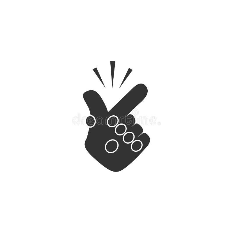 在简单设计的短冷期手指象 r 向量例证