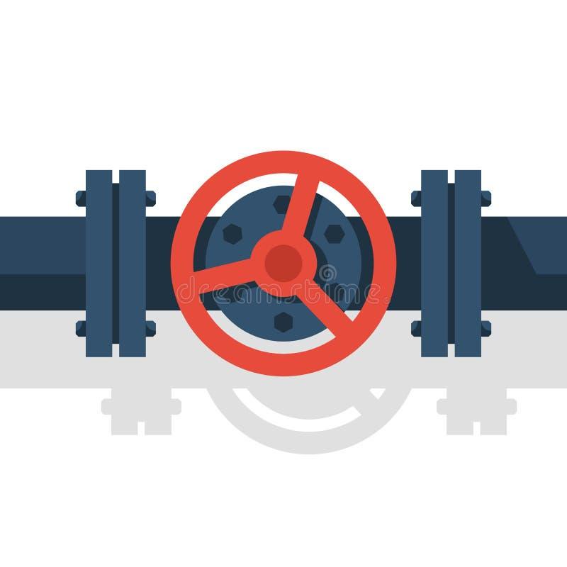 在管子传染媒介的阀门 库存例证
