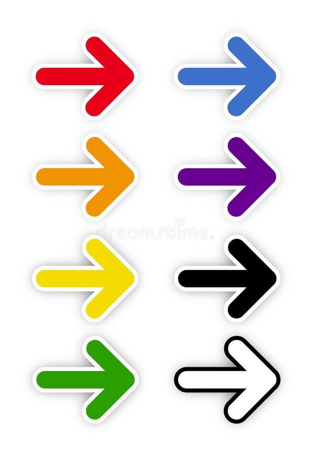 在箭头的彩虹颜色 皇族释放例证