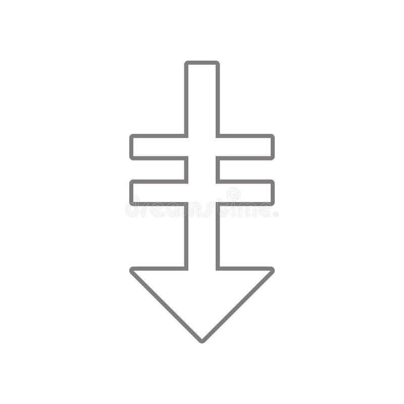 在箭头象下 网的元素流动概念和网应用程序象的 r 皇族释放例证