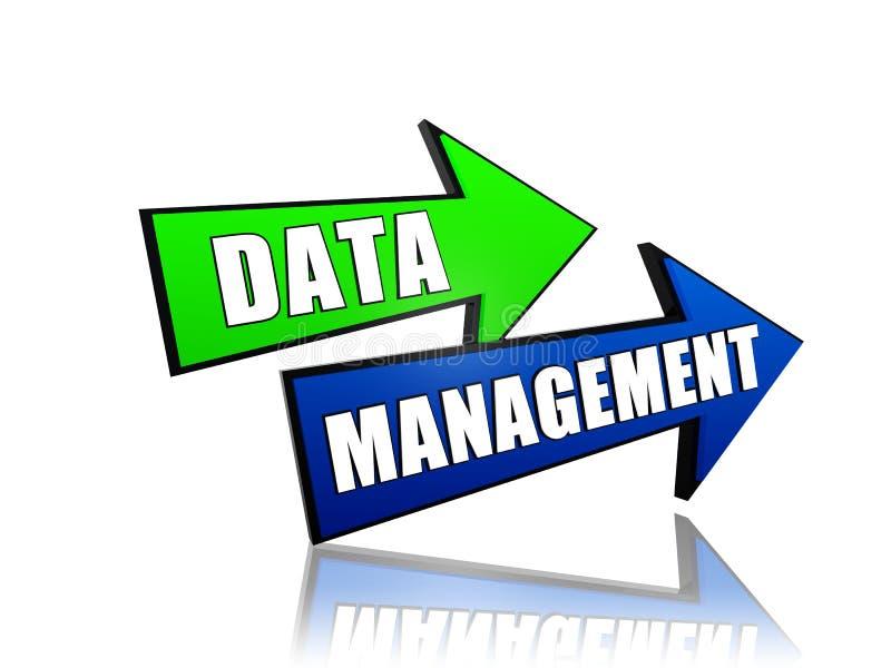 在箭头的数据管理 向量例证