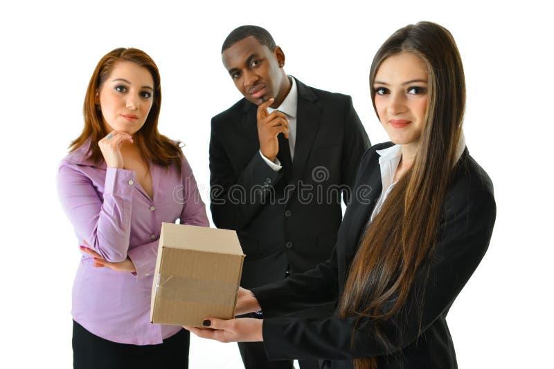 在箱子之外认为 图库摄影